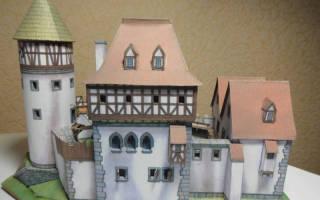 Замок из картона своими руками схемы. Как сделать из бумаги замок