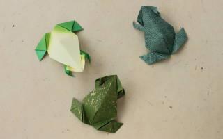 Прыгающая лягушка из бумаги. Как сделать лягушку из бумаги в технике оригами своими руками поэтапно