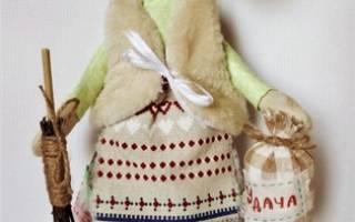 Баба яга своими руками мастер. Обереговая кукла «Баба Яга» своими руками. Вариант из шишки и ореха