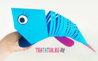 Как сделать объемную рыбку из бумаги своими. Движущаяся рыбка оригами из бумаги