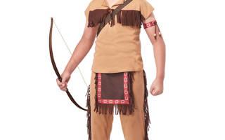 Карнавальный костюм индейца для девочки своими руками. Как сделать индейский головной убор своими руками