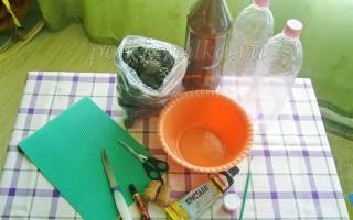 Как сделать ежа из шишек. «Ежики» из пластиковых бутылок и шишек своими руками