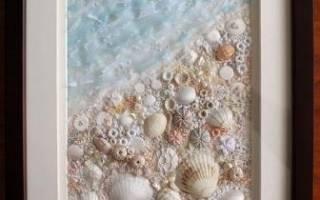 Как сделать картины из морских ракушек. Как я делал панно из ракушек