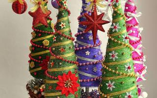 Новогодняя елка из сизаля. Ёлочка из волокна сизаля своими руками
