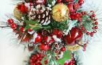 Топиарий из еловых веток. Новогодний топиарий: символ праздничного настроения. Креативный мастер-класс по созданию топиария из конфет своими руками