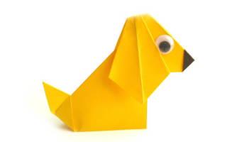 Базовые формы выполнения таксы в технике оригами. Как сделать из бумаги собаку оригами своими руками