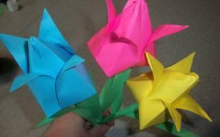 Как сделать бутон тюльпана из бумаги. Бумажные тюльпаны в технике оригами