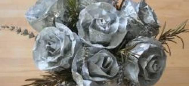 Как сделать розы фольги руками. Цветы из фольги своими руками