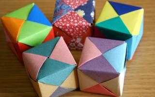 Как сделать квадрат из бумаги оригами. Как сделать объемный квадрат из бумаги своими руками поэтапно