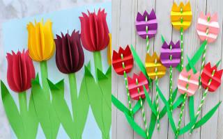Трафарет тюльпанов для вырезания из бумаги шаблоны. Поделка тюльпан из бумаги своими руками. Как можно их использовать