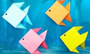 Как можно сделать из бумаги рыбу оригами. Как сделать из бумаги рыбку