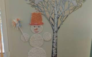 Как сделать аппликацию из бумаги снеговика. #3 Снеговики из бумажных стаканчиков. Новогодние аппликации с ватой
