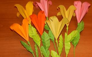 Как сделать объемную лилию из бумаги. Оригами лилия: секрет создания очаровательного цветка