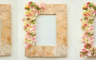 Красивые рамки из цветов. Декор рамки: секреты волшебного превращения своими руками (50 фото)