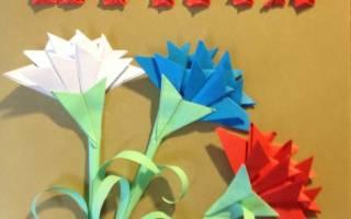 Техника к 9 мая своими руками. Открытка в технике оригами «9 Мая». Мастер-класс. Поделка Голубь Мира из бумаги