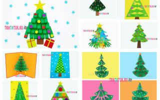 Аппликация елочки из цветной бумаги. Как создать оригинальные новогодние аппликации своими руками
