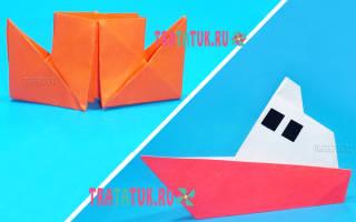 Как сделать из бумаги кораблик. Учимся делать из бумаги пароход с двумя трубами