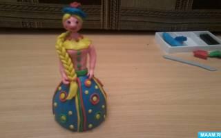 Кукла из пластилина — фея Динь-Динь. Кукла из пластелина своими руками
