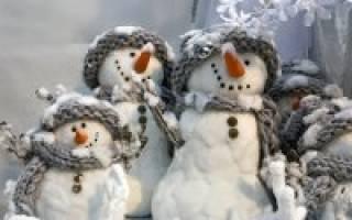 Изготовление объемного снеговика своими руками на выставку. Как слепить снеговика или снежную бабу из снега