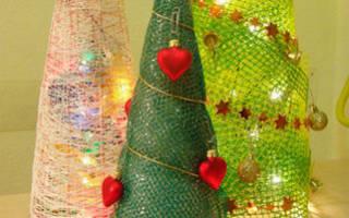 Новогодняя елка конус своими руками. Новогодняя елка своими руками