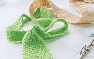 Схема вязания галстука крючком. Вязаный галстук — необычный подарок своими руками мужчине. Как связать галстук и бабочку крючком: схема и описание