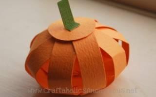 Как сделать объемную тыкву из бумаги на хэллоуин своими руками. Тыква из бумаги на хэллоуин