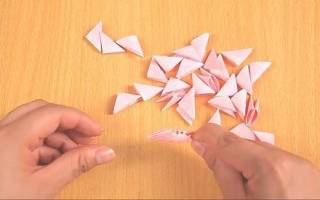 Как сделать маленькие модули из бумаги. Модульное оригами для начинающих: симпатичные фигурки своими руками