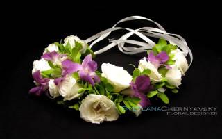 Как сплести венок (шапочку и тюбетейку) из живых цветов на голову. Венок своими руками: крупные цветки в украинском стиле. Осенний венок своими руками: чудеса бумажного рукоделия детально
