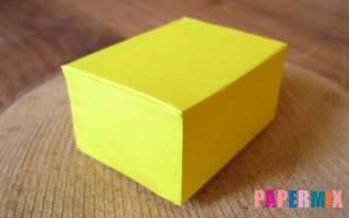 Как сделать прямоугольник из бумаги схема распечатать. Как сделать параллелепипед из бумаги