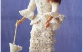 Вязаная одежда крючком для кукол своими руками. Вязаные куклы и разная одежда для них крючком