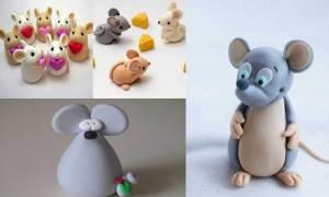 Как сделать мышку из пластилина. Мышонок из пластилина. Материалы для лепки
