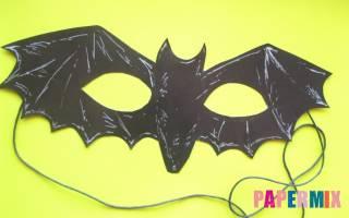 Сделать страшную маску из бумаги своими руками. Как сделать маску летучей мыши на хэллоуин из бумаги своими руками