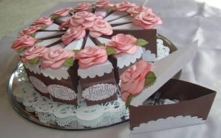 Как сделать бумажный торт. Кусочек торта из бумаги (2 лучших способа создания)