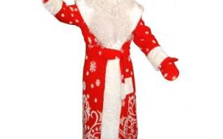 Как сделать из картона дедушку мороза. Костюм Дед Мороза своими руками: схемы и выкройки. Дед Мороз и посуды
