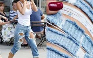 Как сделать порезы на джинсах. Как красиво порезать джинсы самостоятельно