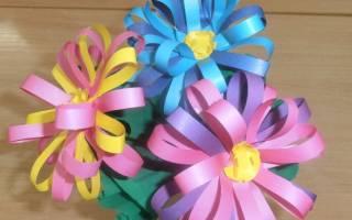 Как сделать объемные цветы из полосок бумаги. Большие цветы из бумаги своими руками
