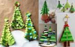 Поделка елка из двухсторонней бумаги цветной. Как сделать ёлку из бумажных кругов. Мастерим, используя подручные материалы