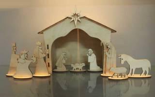 Поделка рождественский вертеп своими руками из бумаги. Слепить из быстрозастывающей глины. Вертеп – развлечение с глубоким смыслом