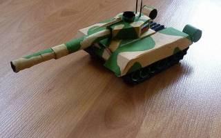 Как сделать из цветной бумаги танк поэтапно. Поделка танк из цветной бумаги