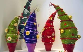 Схема елки из бумаги своими руками. Новогодняя красавица из ткани. Ёлочки из картона из лопастей