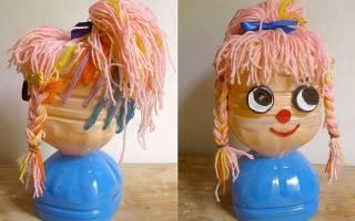 Куклы из пластиковых бутылок своими руками. Быстро и красиво. Кукла из пластиковой бутылки своими руками — фото, видео как сделать
