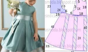 Платье на девочку 3 5 лет сшить. Легкая выкройка и пошив платья на все случаи жизни своими руками для девочки пяти лет. Инструменты и материалы