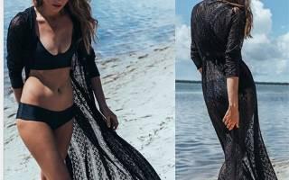 Пляжные платья для полных женщин своими руками. Удобное платье для пляжа. Туника из шифона для пляжа с коротким рукавом